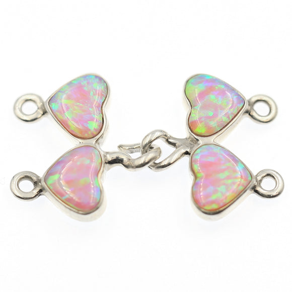 (ICL-027) 2-strd Pink Synthetic Opal