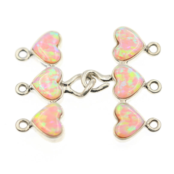 3-strd Pink Synthetic Opal