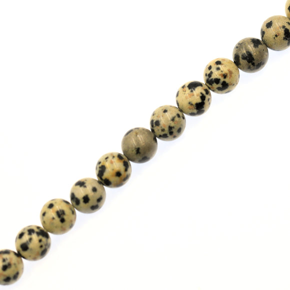 (jas068) 8mm Dalmation Jasper