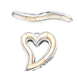 Mother of Pearl Heart Toggle