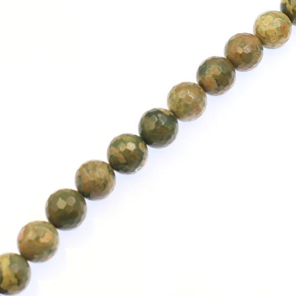 (Rhyolite004) 20mm Faceted Rhyolite