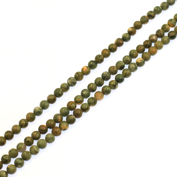 (Rhyolite010) 6mm Rhyolite Beads