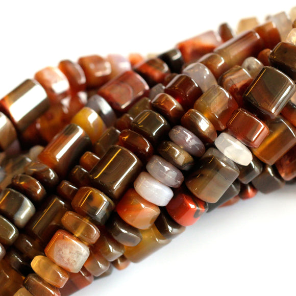 (agate040) Condor Agate Trillion - Scottsdale Bead Supply