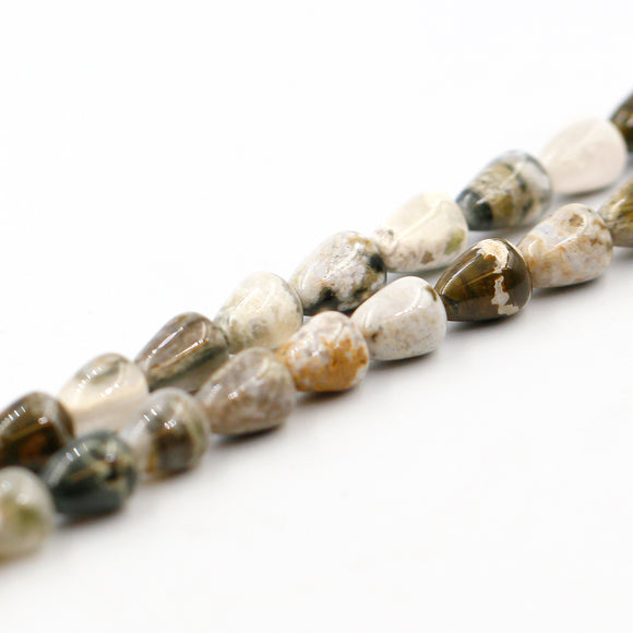 (jas044) 8mm Ocean Jasper Triangular Cones