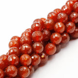 (carn004) Carnelian 10mm Faceted Rounds