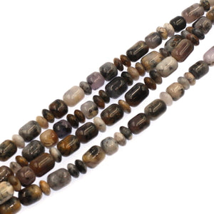 (agate059) Graduated Sage Agate Barrels and Roundels - Scottsdale Bead Supply