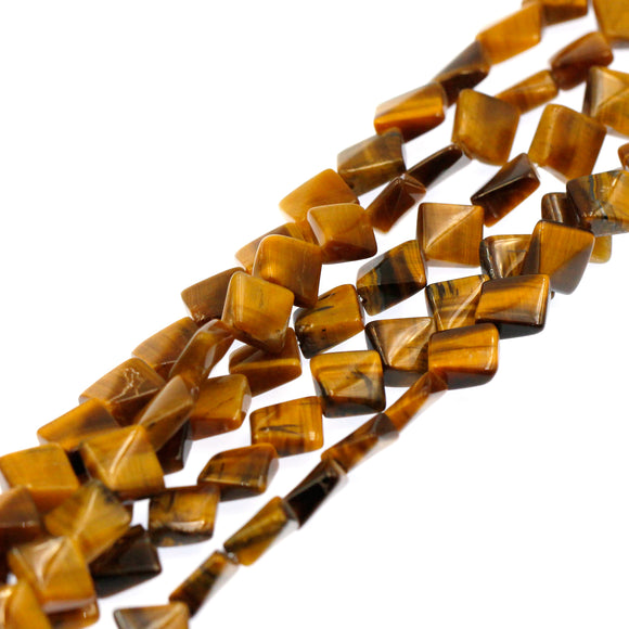 (tig008) 8mm Tigers Eye Flat Squares