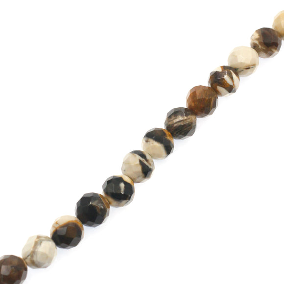 (jas065) 10mm Faceted Peanut Jasper Beads