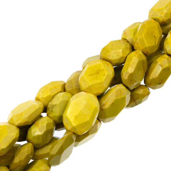 (serp014) 21x16mm Faceted Serpentine Beads