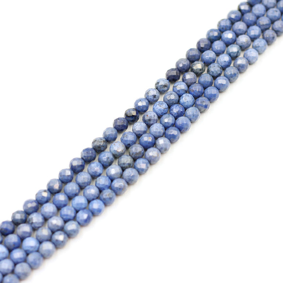 (Dum002) 8mm Faceted Dumortierite