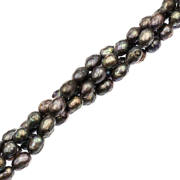 (fwp050) 8mm Faceted Baroque Fresh Water Pearls