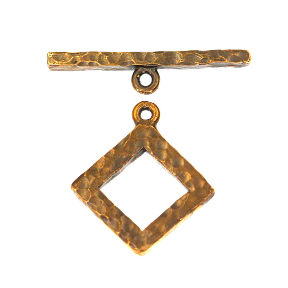 (bzct039-8951)  Hammered Bronze Toggle Clasp