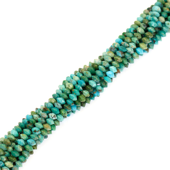 (turq002) 3mm Faceted Turquoise Roundels