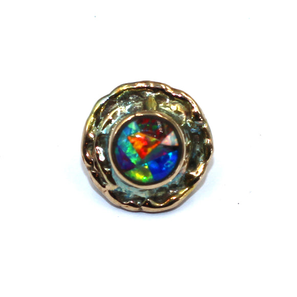 Bronze opal button