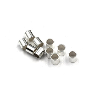 3x3 mm sterling  crimps