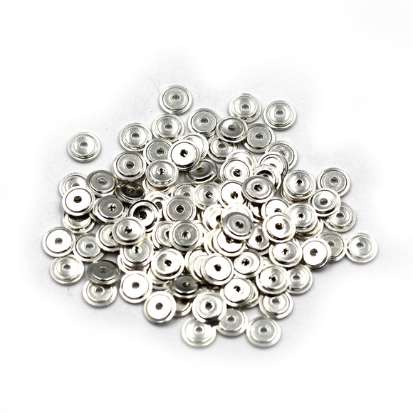 4.3MM Sterling Disc Spacer Bead