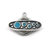 (Stg-002-8586) Sterling Silver Toggle With Turquoise Inlay