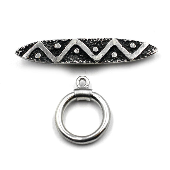 (Stg-019-8652) Sterling Silver Toggle