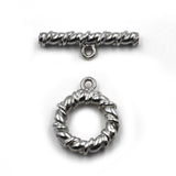 (Stg-085-8740) Heavy weighted sterling silver Toggle set.
