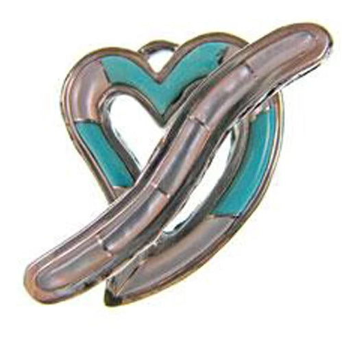 Turquoise and Mother of Pearl Heart Toggle