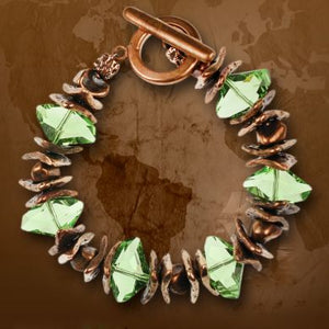 Bronze and Swarovski Crystal Bracelet Kit