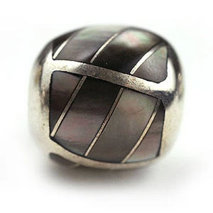 Inlay Twist Round 13 mm Black Lip Shell