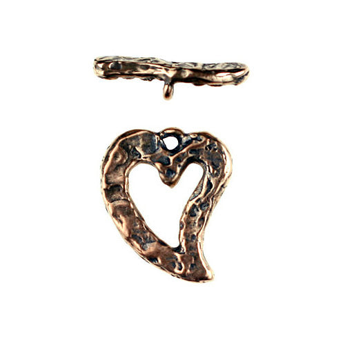 Bronze SBS texture Heart shape Toggle