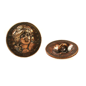 "Bronze ""In god we trust' coin button"
