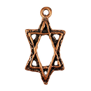 Bronze Star of David Pendant