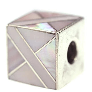 Inlay Cube 12mm3 Pink Mussel