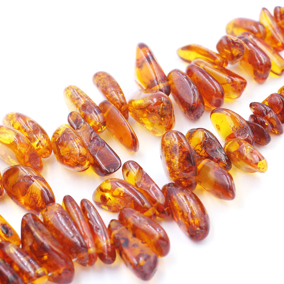 (amber003) Graduated Amber Nuggets - Scottsdale Bead Supply