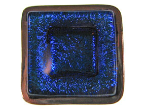 Cobalt Dichroic Inlay 5-Strand Clasp