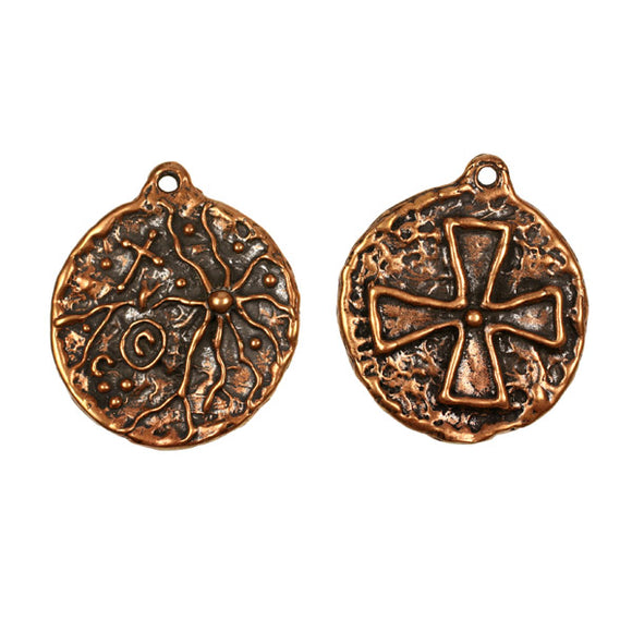Bronze Cross Medallion Pendant