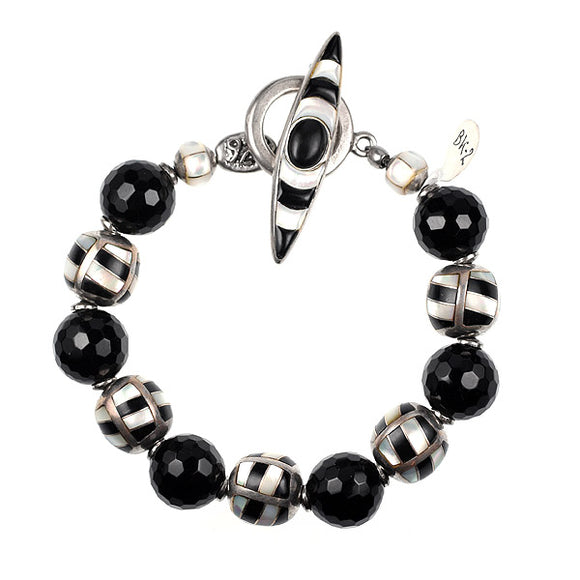 Black Onyx and MOP bracelet kit