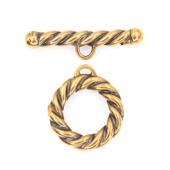 (bzct103-8608) Bronze Twisted Rope design toggle