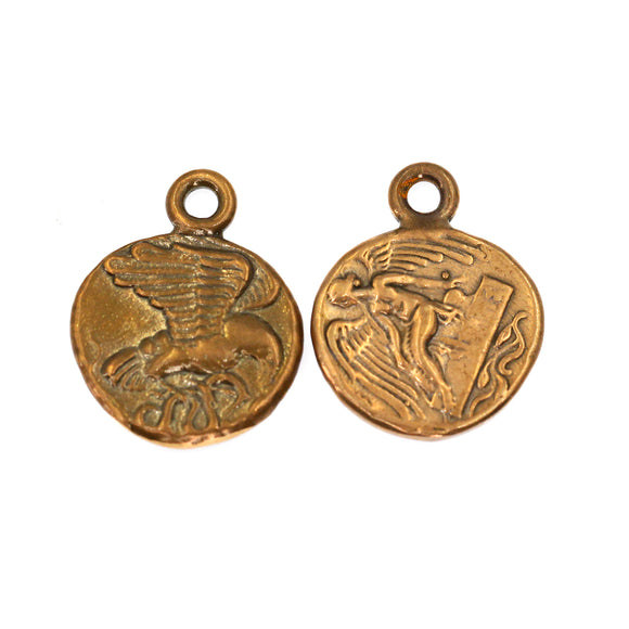 (bzrc037-N0183) Goddess Nike Ancient Bronze Coin Reproduction