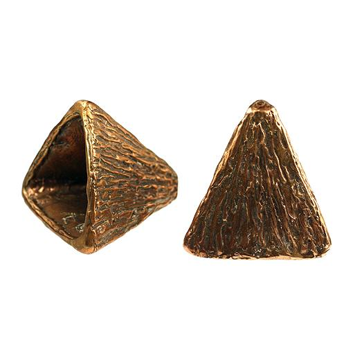 Bronze Triangular Cone