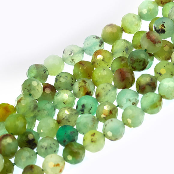 8mm faceted chrysoprase