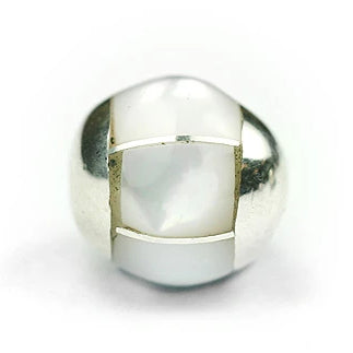 8 mm Round White Mother-of-pearl