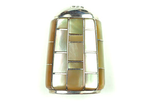 Inlay Cone 11 x 8 mm Gold Lip Shell