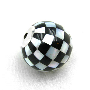 25mm checkerboard inlay bead