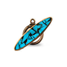 Turquoise Inlay Bronze Toggle