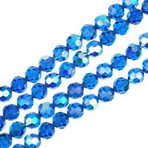 10mm Capri Blue Swarovski Crystal