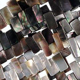 (blacklip004) 18x10mm Black Lip Mother of Pearl Beads - Scottsdale Bead Supply