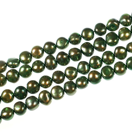 Green Fresh Water Pearls