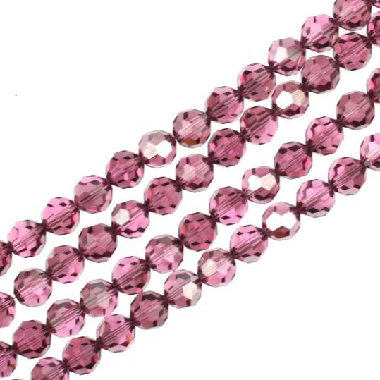 8mm Rose Satin Swarovski Crystal