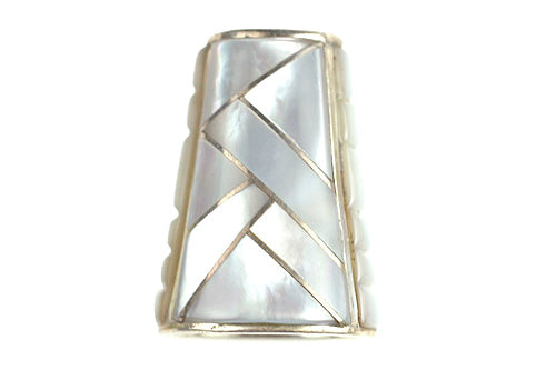 Inlay Cone 12 x 9 mm White Mother of Pearl