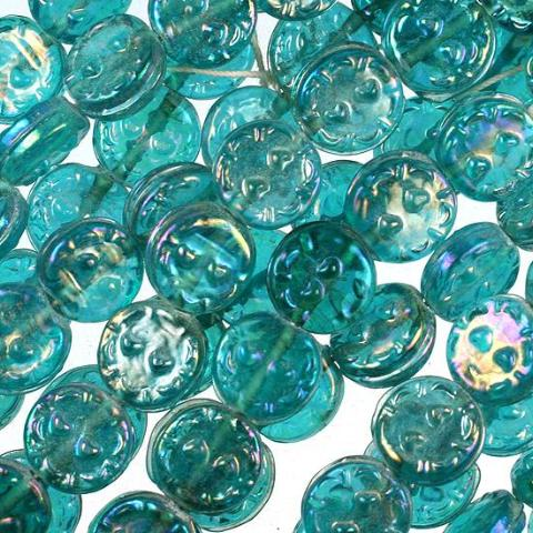 Blue India Lamp Beads