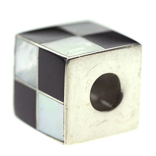 Inlay Cube 12mm3 White MOP and Blk Horn