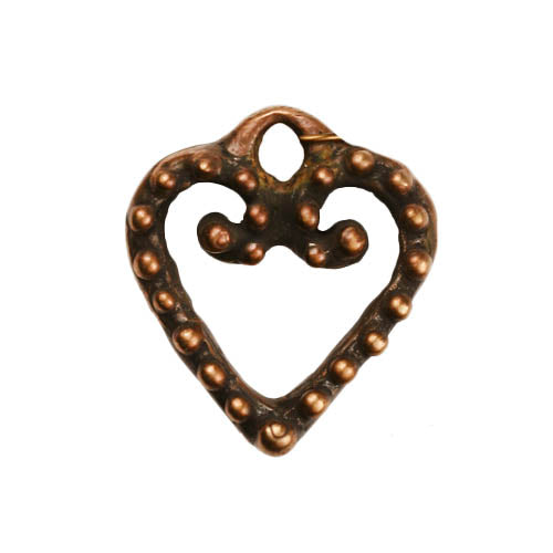 Bronze Dotted Heart Pendant
